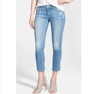 Paige denim cropped skinny jeans